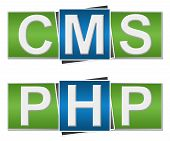 PHP CMS Green Blue