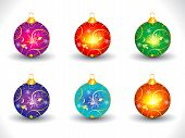 Abstract Artistic Colorful Multiple Christmas Ball