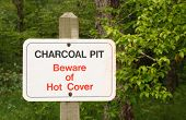 Charcoal Pit Sign