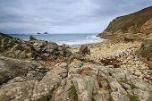 Porth Nanven Cove Cornwall Uk