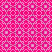 Hearts pattern on pink background