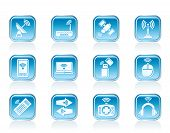 Wireless and communication technology icons