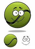 Happy cartoon tennis ball