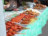 Thai Meat At Street Market, Thailand, Krabi