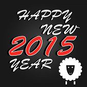 Happy New Year 2015 celebration background. Vector