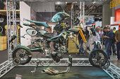 Breakdown Of A Motorbike At Eicma 2014 In Milan, Italy