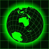 pic of north-pole  - Green Australia map - JPG