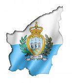 San Marino Flag Map