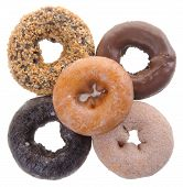 stock photo of donut  - donuts chocolate donuts on background - JPG