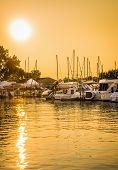 Boat Marina Sunset