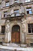 Facade Of An Ancient Building In Dresden. Germany.