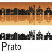 Prato Skyline In Orange Background