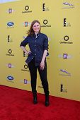LOS ANGELES - NOV 16:  Emily Deschanel at the PS Arts Express Yourself Benefit at the Barker Hanger on November 16, 2014 in Santa Monica, CA