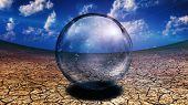 Crystal Sphere in desert depression