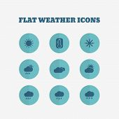 Flat icons collection. Vector illustration