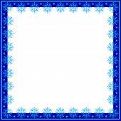 Frame of snowflakes