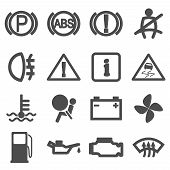 Car Driving Icons