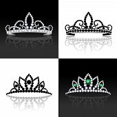 Tiara set isolated