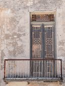 Old Abandoned Closed Door