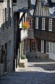 Half-timbered Building In The Rue De Jerzual, In Dinan