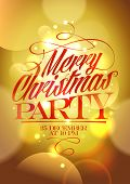 Merry Christmas party design.