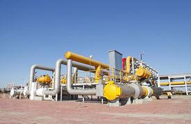 foto of pipeline  - In oil field - JPG