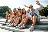 stock photo of waving hands  - friendship - JPG