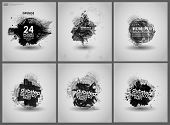 picture of dots  - Set poster Grunge background vector - JPG