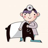 pic of tapir  - Veterinarian Theme Elements Vector - JPG