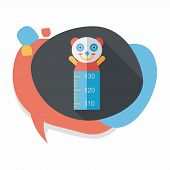 stock photo of measuring height  - Height Scale Flat Icon With Long Shadow - JPG