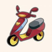 picture of vespa  - Transportation Motor Theme Elements - JPG