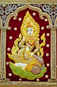 foto of lord krishna  - Hindu female Goddess decorative ornament background - JPG