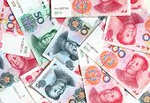 stock photo of yuan  - Chinese yuans - JPG