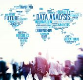 stock photo of comparison  - Data Analysis Analytics Comparison Information Networking Concept - JPG