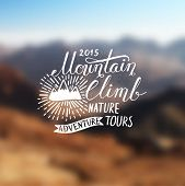 image of tramp  - Mountain adventure lettering - JPG