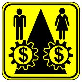 foto of equality  - Concept sign for equal pay for equal work especially for women - JPG