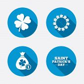 stock photo of clover  - Saint Patrick day icons - JPG