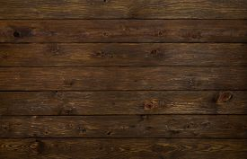 pic of rusty-spotted  - Wooden brown desk floor or table background - JPG