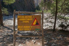 foto of samaria  - Samaria Gorge tourist attraction hike - JPG