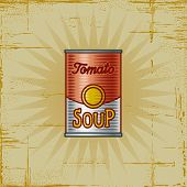 Retro Tomato Soup Can