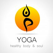������, ������: Yoga logo design template Health Care Beauty Spa Relax Meditation Nirvana concept icon