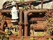 Rusty-Motor mit Reben