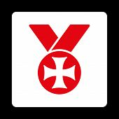 picture of maltese-cross  - Maltese medal icon from Award Buttons OverColor Set - JPG