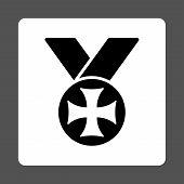 foto of maltese-cross  - Maltese medal icon from Award Buttons OverColor Set - JPG