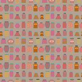 pic of mason  - Mason jars  seamless pattern - JPG