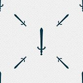 picture of crossed swords  - the sword icon sign - JPG