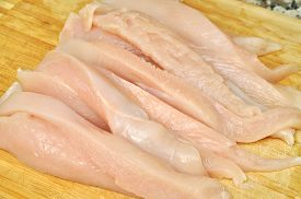 image of grils  - Fresh raw chicken meat ready to cook - JPG