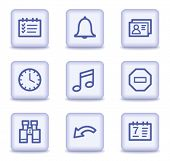 Organizer web icons, light violet glossy buttons
