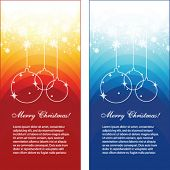 Seasonal greetings banners, vector
