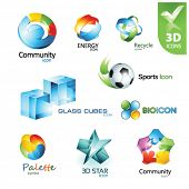 Set of vector design elements 14. 3D icons.
